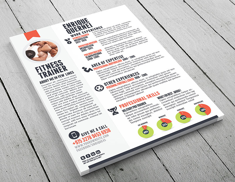 Fitness Trainer Resume  Personal Training Resume