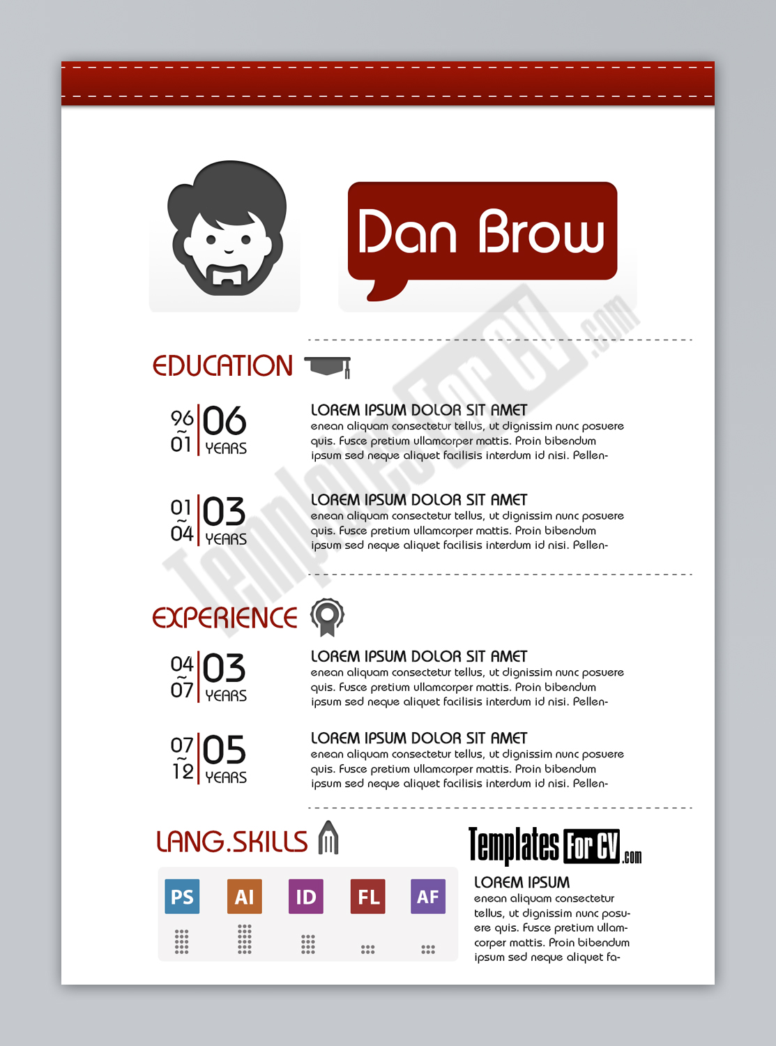 Graphic Designer Resume Template  Graphic Design Resume Template