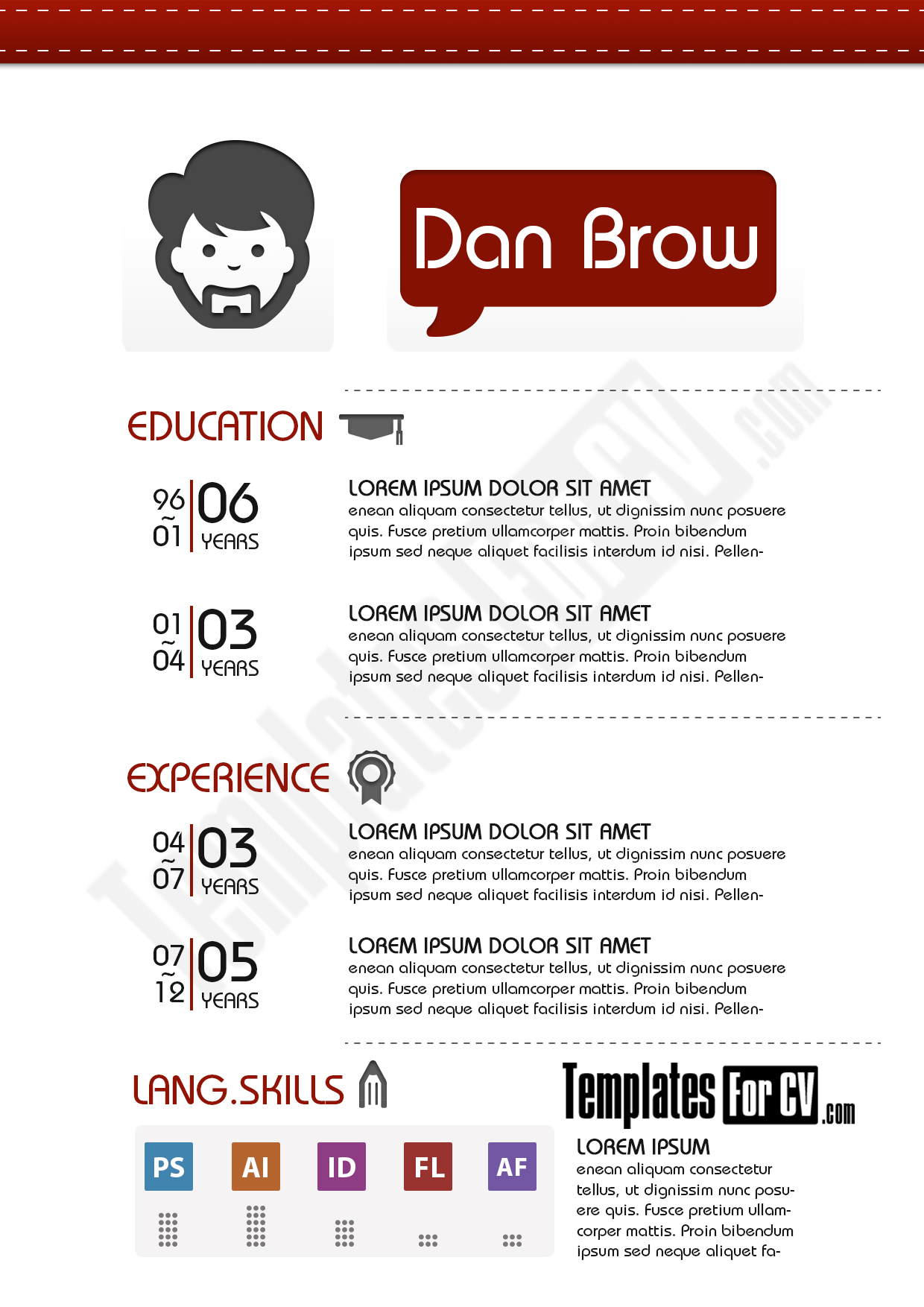 best fonts graphic design resume the best cv resume templates examples design shack - Resume Templates For Graphic Designers