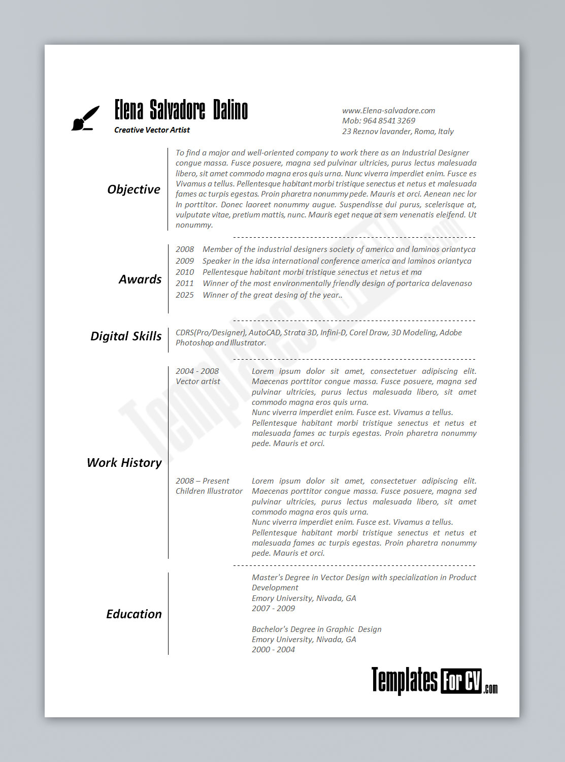 Good Artist Cv Template Ideas How To Write An Artist Resume