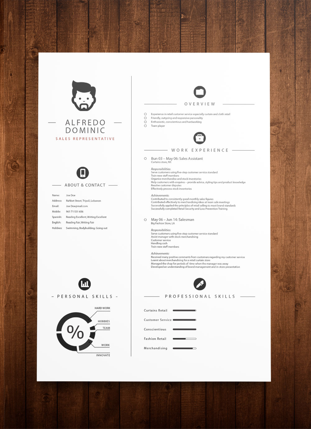 free cv template download now